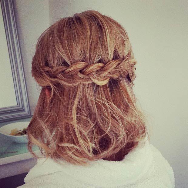 26 Stunning Half Up Half Down Hairstyles Stayglam Prom Hairstyles For Short Hair Hair Styles Medium Hair Styles
