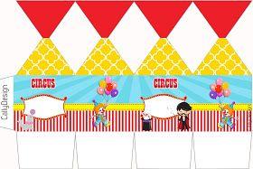"""CALLY'S DESIGN-Kits Personalizados Gratuitos: Kit Gratuito de Aniversário """"Circo"""" para Imprimir."""