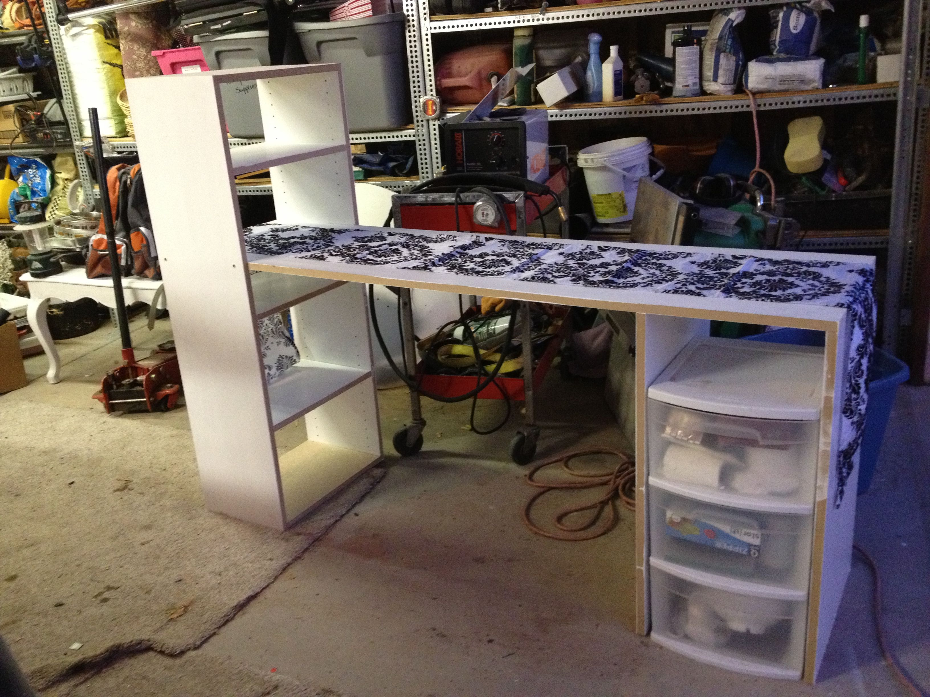 Manicure tables are coming along! | Nail salon interior ideas ...