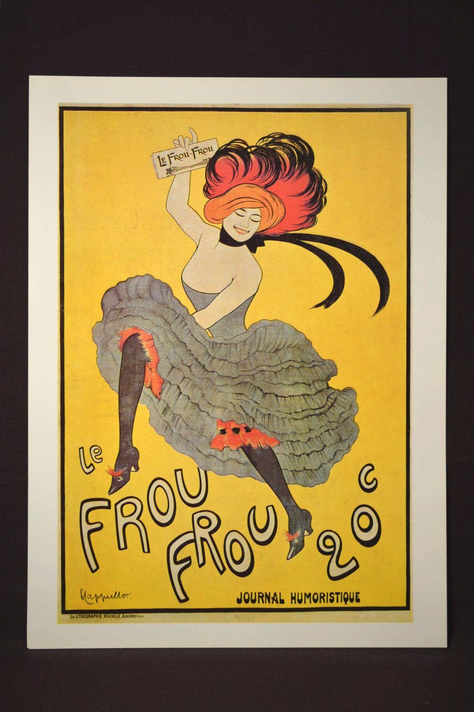 French Can Can Poster Paris Fashion Print Wall Art Parisian | Wall ...