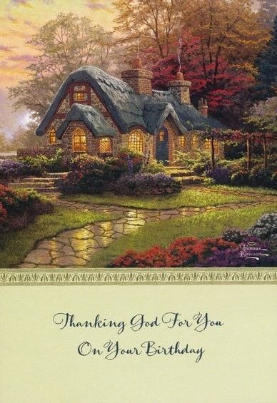 Birthday Cards Thomas Kinkade Box Of 12