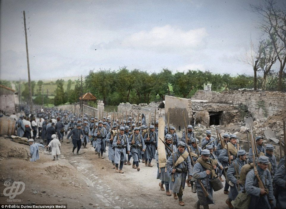 Colorized Images Of The French During Wwi Between 1914 And 1918