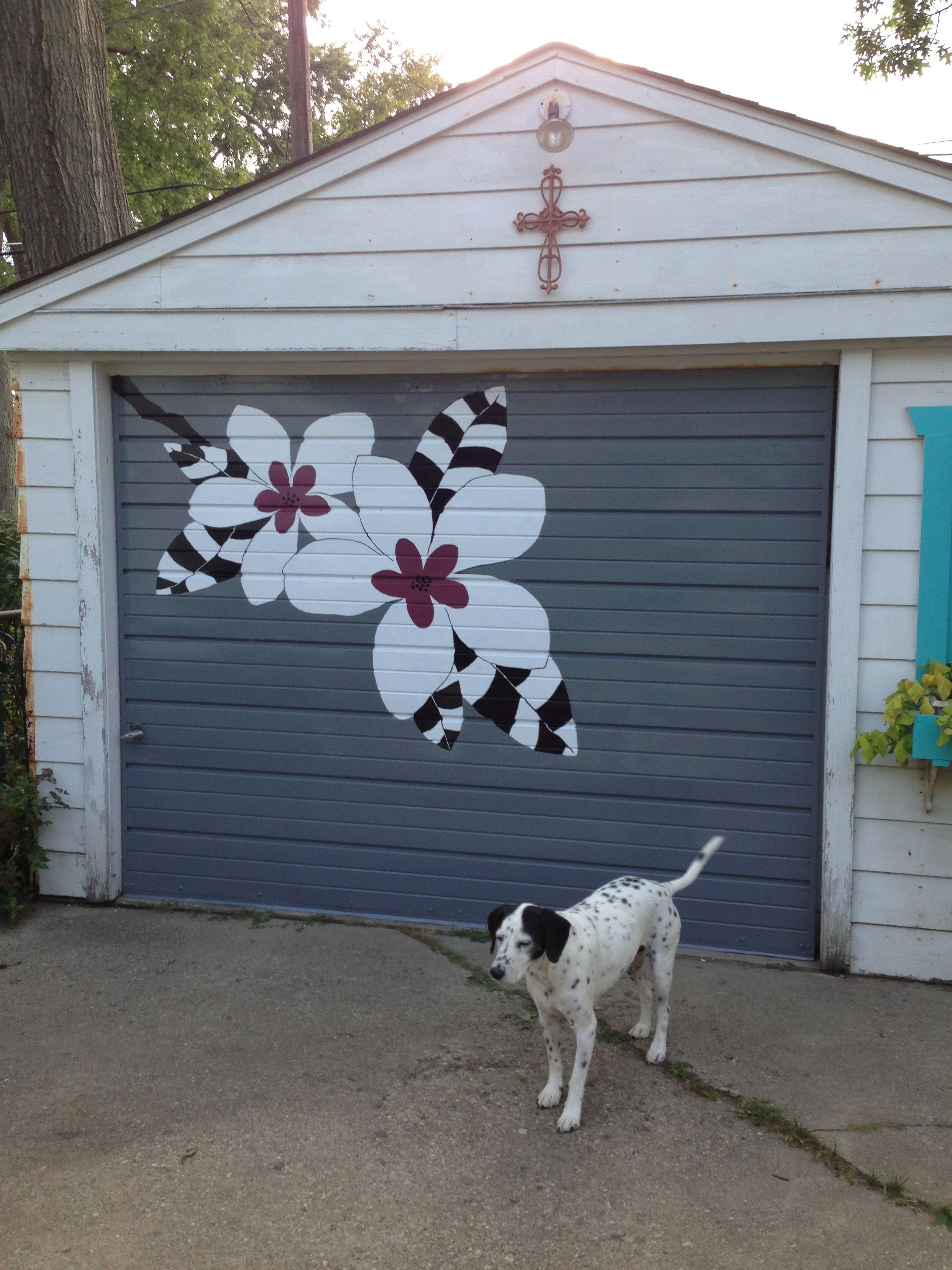 Garage door art diy