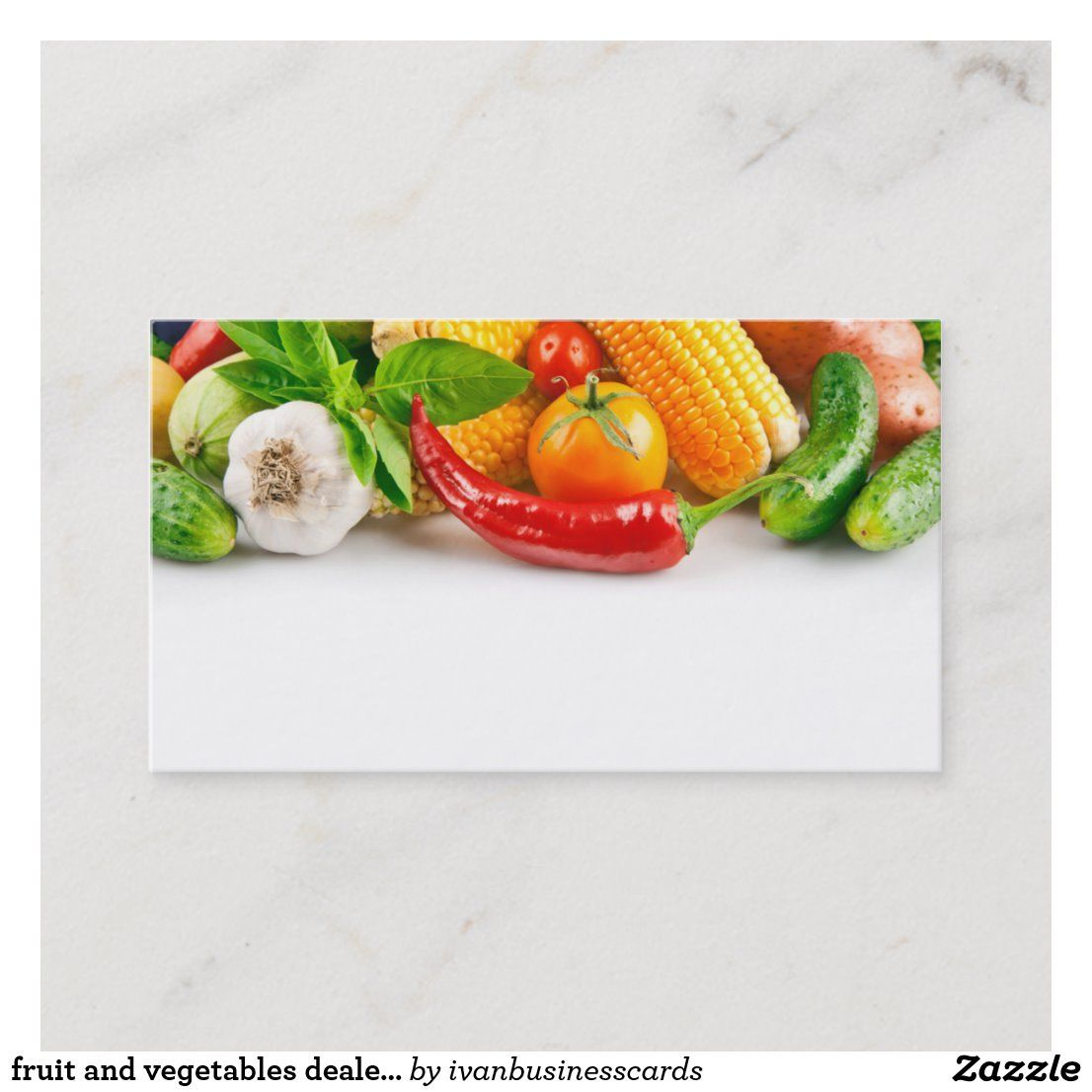 Fruit And Vegetables Dealer Business Card Template Zazzle Com In 2021 Business Card Template Card Template Fruit