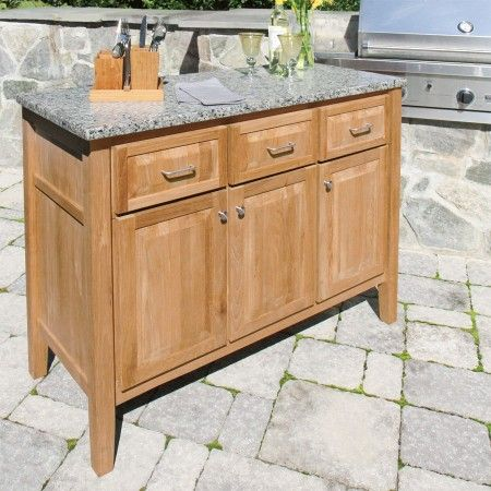 Exceptional Berwick Sideboard W/ New Caledonia Granite Top. Shown With Cucina Napkin  Caddy.