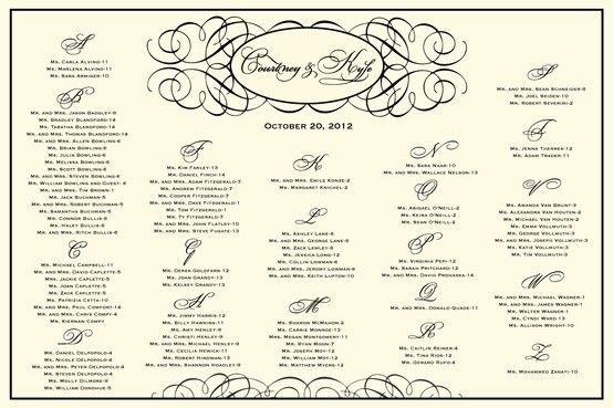 bridal shower seating chart template - victorian reception seating chart victorian wedding