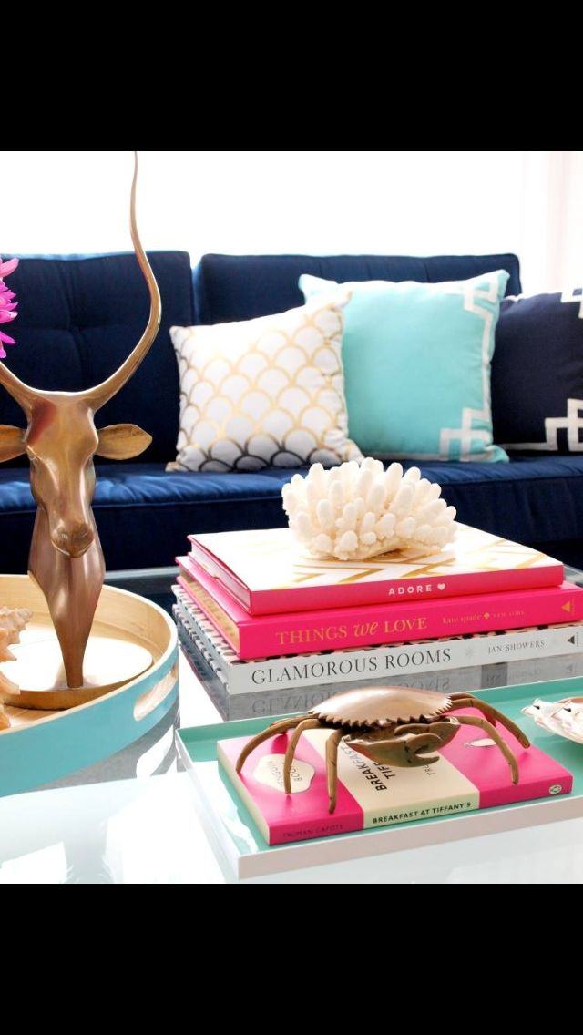 Coffee Table Luxe Addition Love The Navy Couch