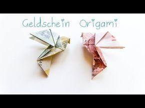 DIY Geldschein Origami Vogel - Geschenkidee, My Crafts and DIY Projects