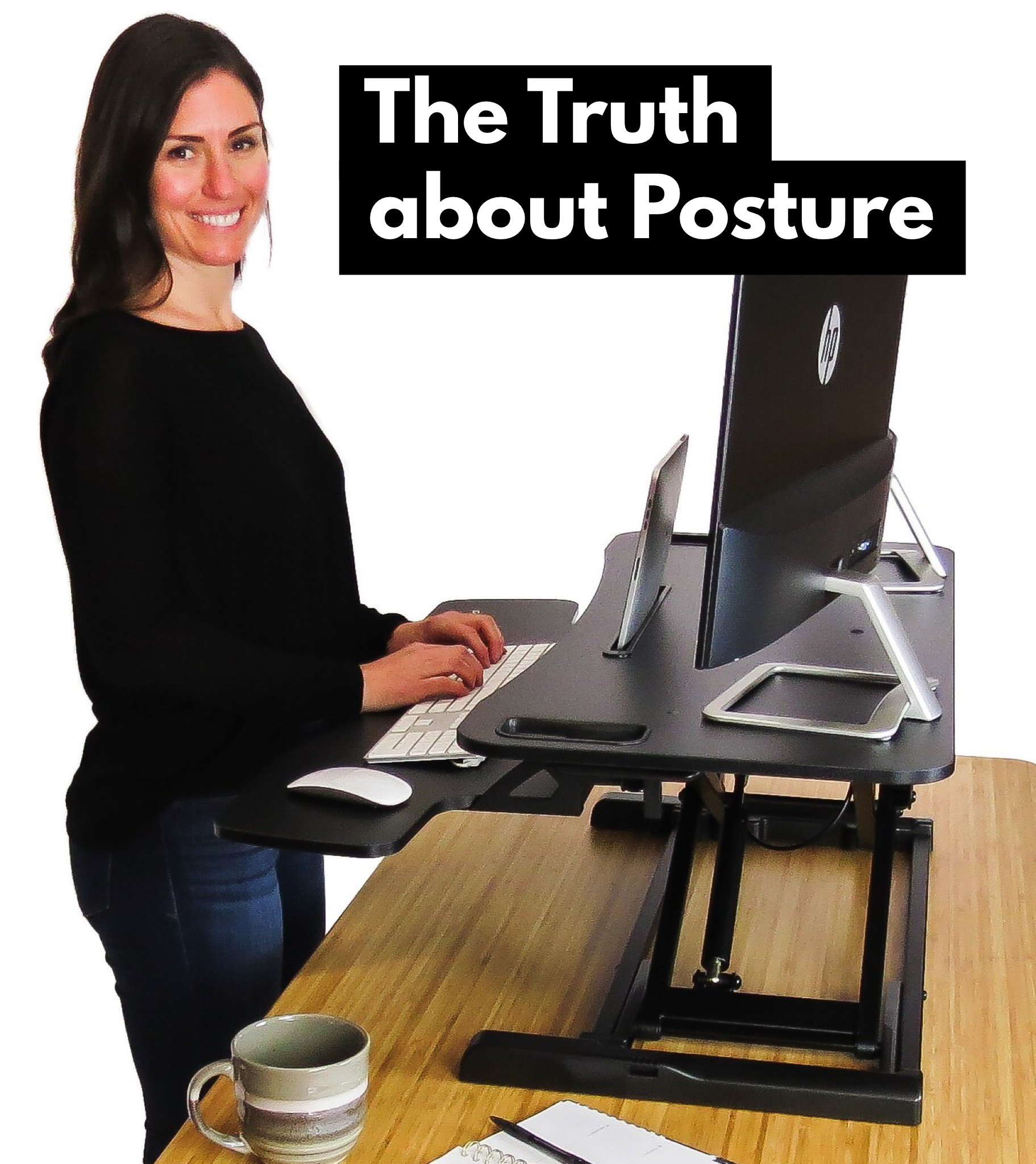 Using A Standing Desk At Work Gets You Out Of Your Chair And Out Of The Posture Slump Stand Up Tall While Working At Your Desk W Desk Standing Desk Desk