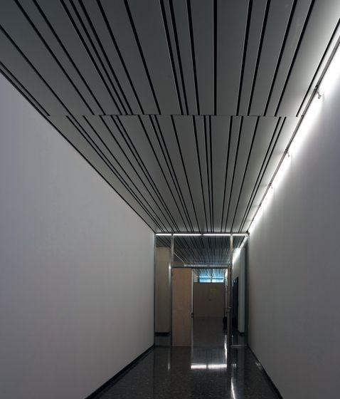 Corridor Roof Design: Metal Ceiling Multi-Panel By Hunter Douglas