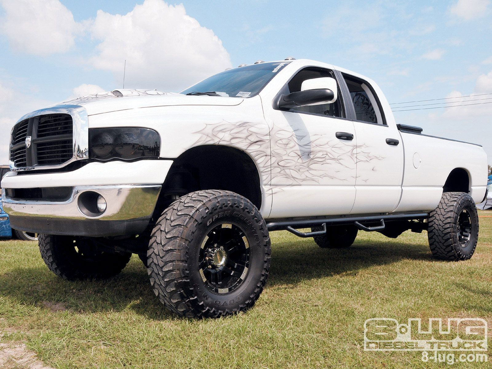 white lifted dodge ram 2500 truck - White Dodge Ram 2500 Lifted