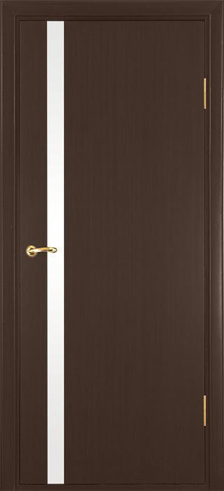 Modern Interior Door With Small Frosted Glass In Wenge Finish ...