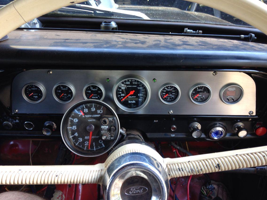 Custom Dash Facia Insert 70 F100 4x4 Autometer Sports Comp Gauges 4x4 Custom Trucks
