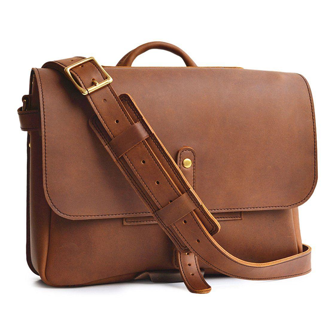 Amazon Com Marlondo Leather Postal Messenger Bag Full Grain