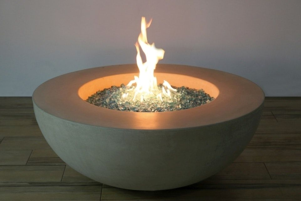 Gardenforma Gas Feuerstelle Atna In Gelblicher Betonoptik Gas Feuerstelle Feuerstelle Und Gasfeuer