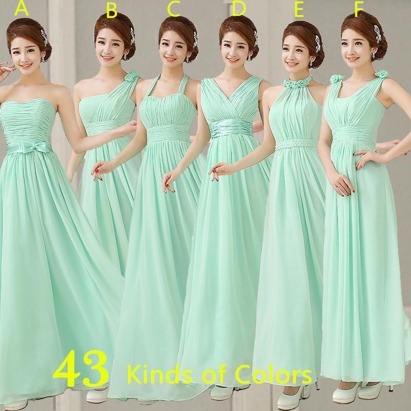 Cheap Mint Color Dresses Long Chiffon A Line Sweetheart Pleated Bridesmaid  Dress Formal Dress To Party Plus Size Under 50 Bridesmaid Short Dresses ... b1e7df6291cc
