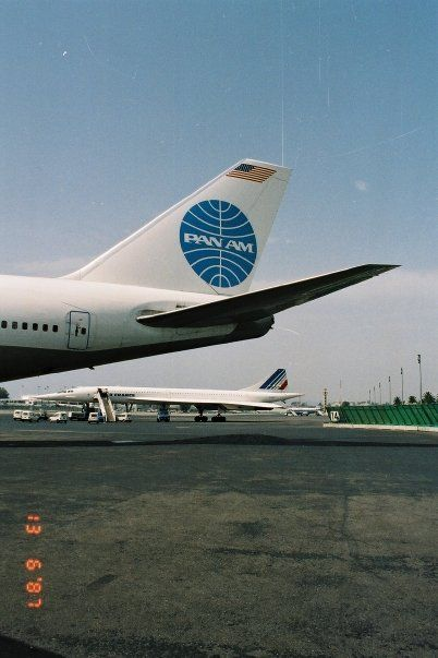 Concorde F-BVFF encounter with Pan Am Boeing 747 at NICE airport France @ Jean-Louis Delezenne