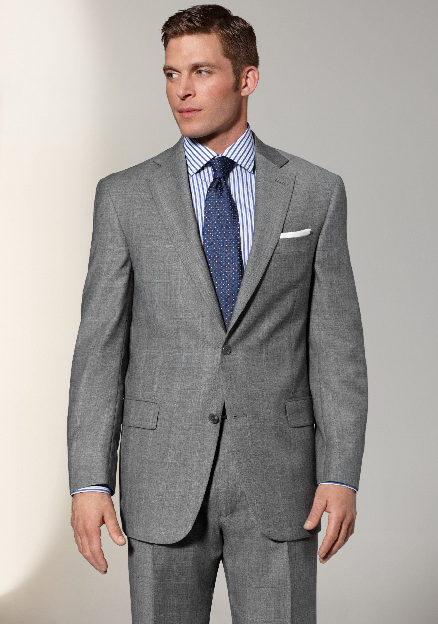 grey suit blue shirt and blue tie | lazy wedding planning | Pinterest