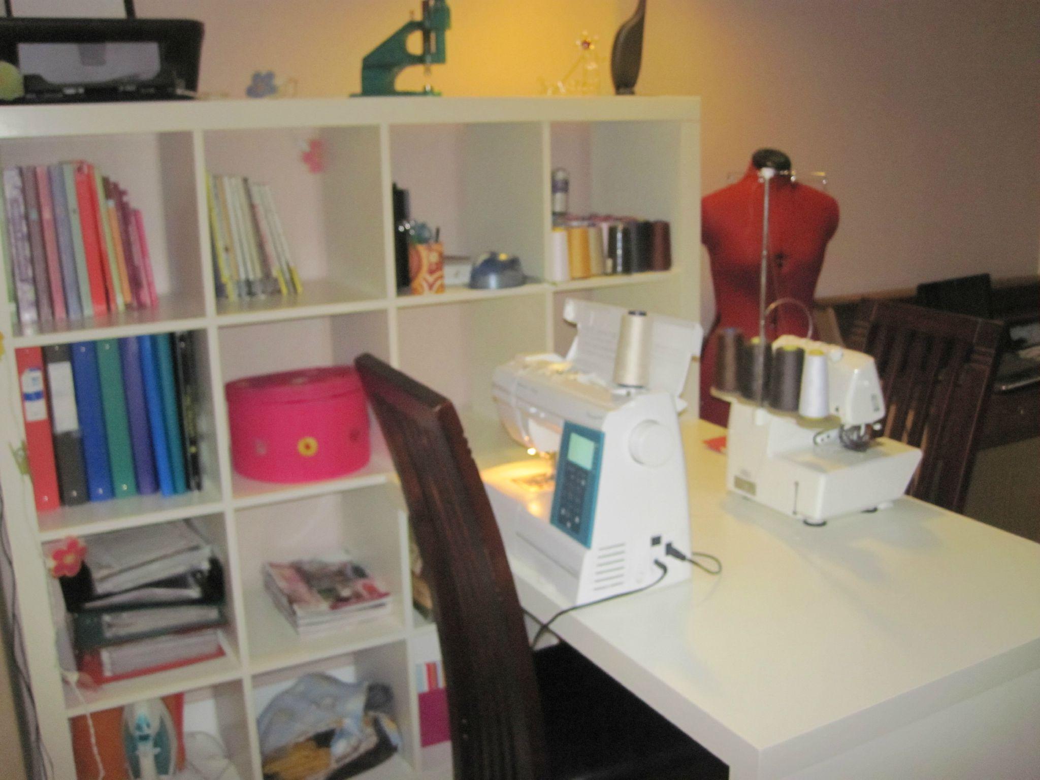 coin couture bureau bis atelier pinterest basique coin couture et panier. Black Bedroom Furniture Sets. Home Design Ideas