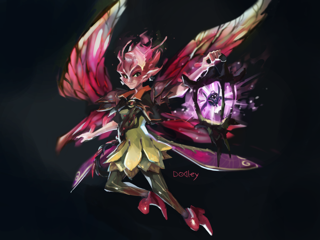 I drew Dark Willow : DotA2 | Dota 2, High fantasy, Best cosplay