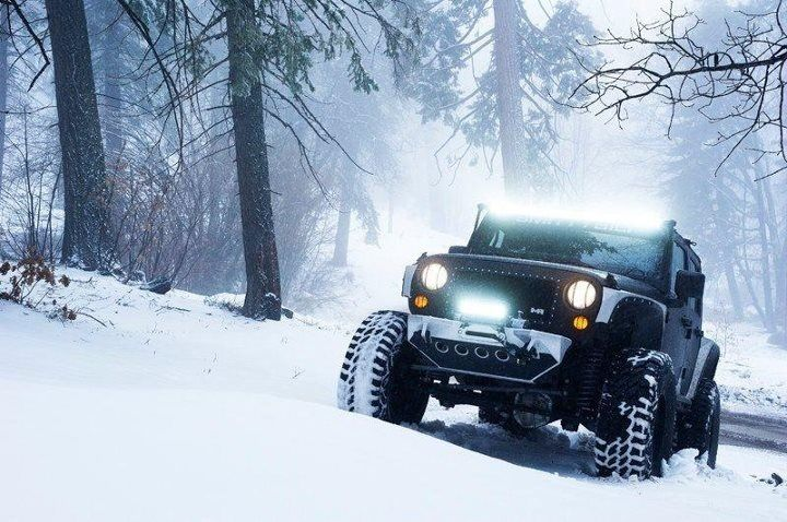 Snow Wheeling In The Jk Bring On The Snow We R Ready To Go Out