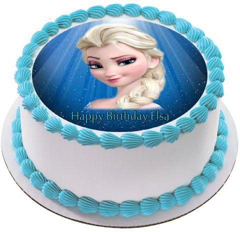 Frozen Elsa Face Edible Edible Birthday Cake Topper Edible Cake