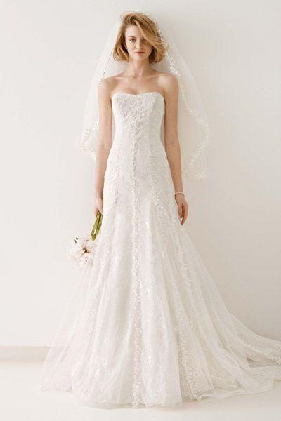 611bd1ecc6 30 Beach Wedding Gowns - Melissa Sweet for David Tulle Wedding Gown