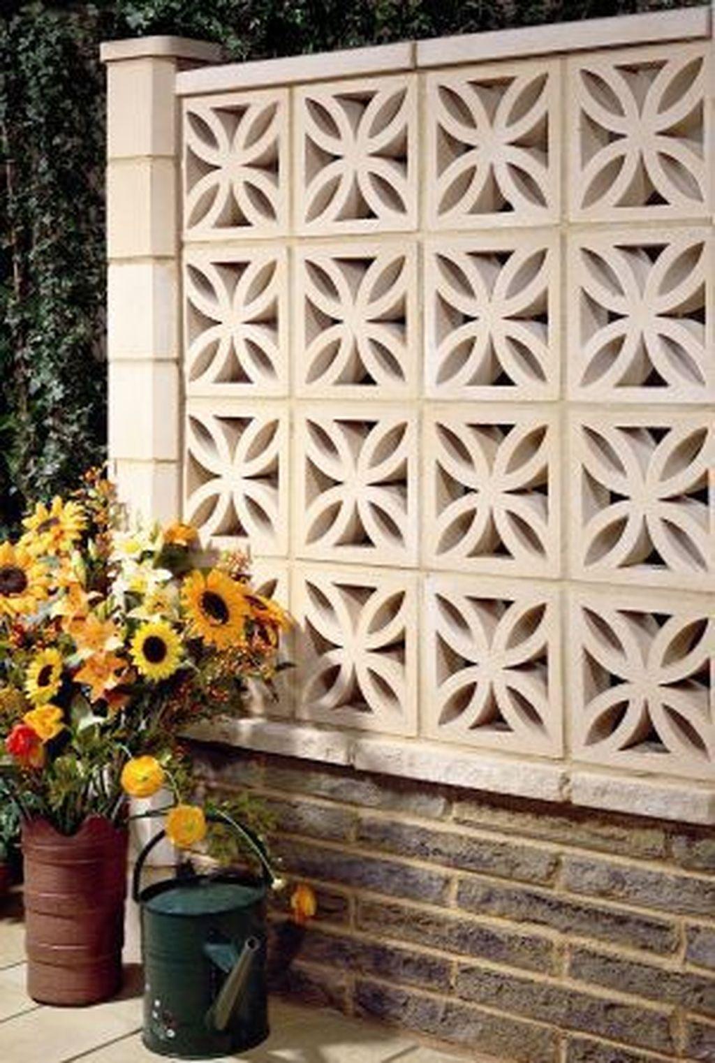 33 Fancy Breeze Block Wall Backyard Ideas For Your ... on Backyard Cinder Block Wall Ideas id=27550