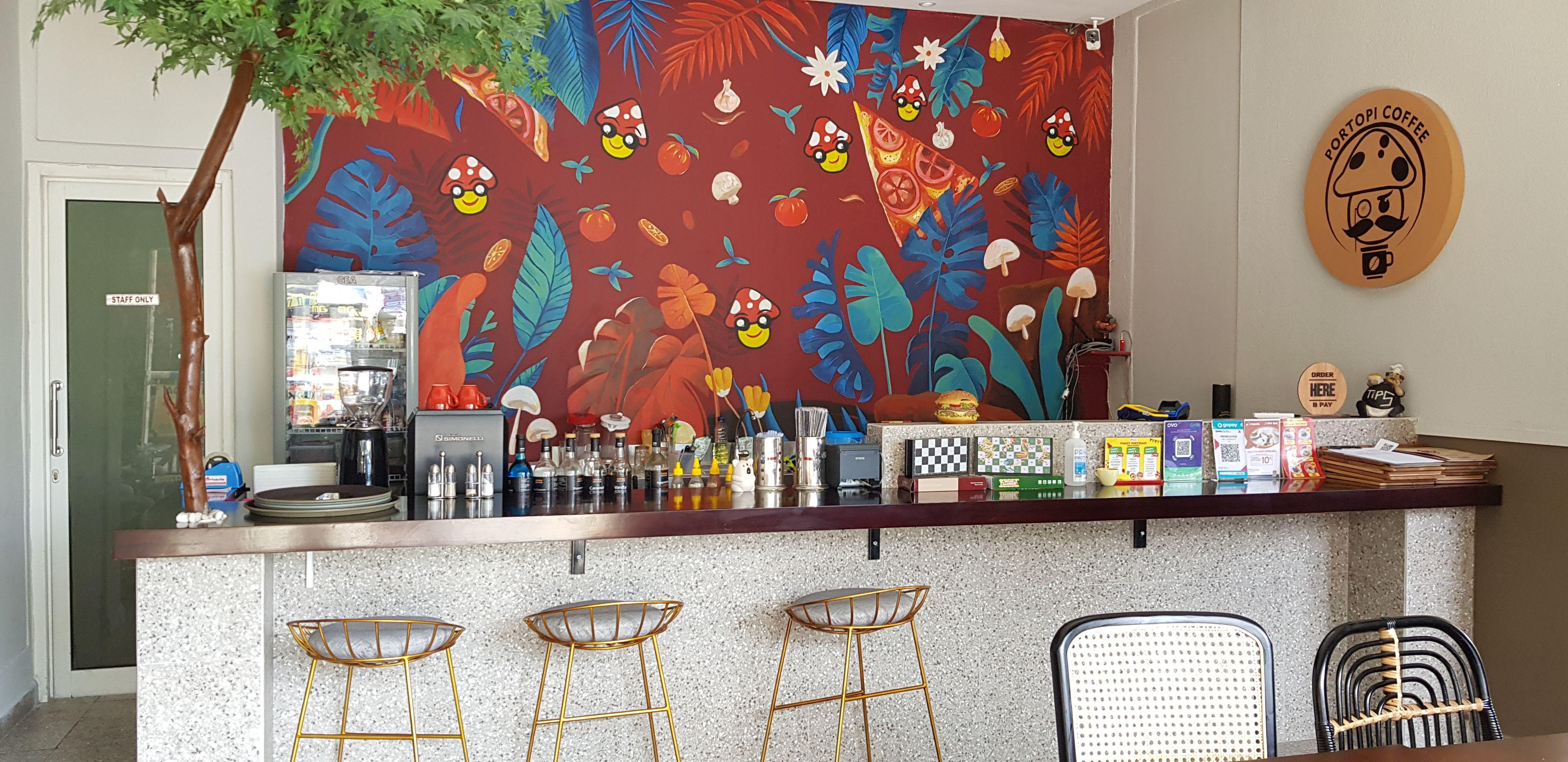 Gambar Dinding Warung Makan