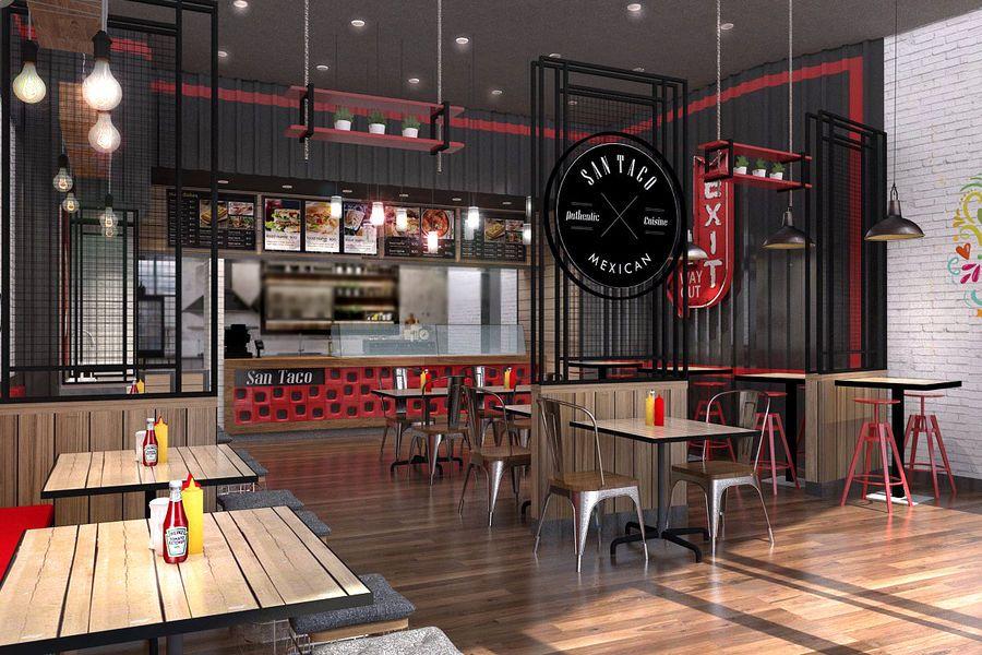 Mexican Fast Food Restaurant Small Restaurant Design Mexican Restaurant Design Fast Food Restaurant Design