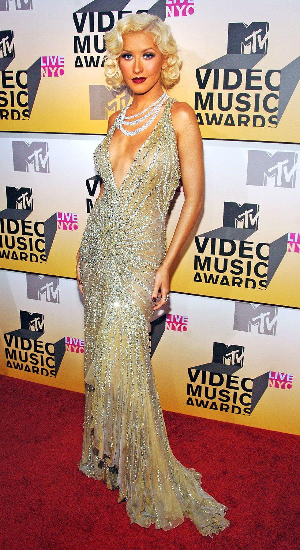 Christina Aguilera's Wild VMA Looks   Beautiful christina ...