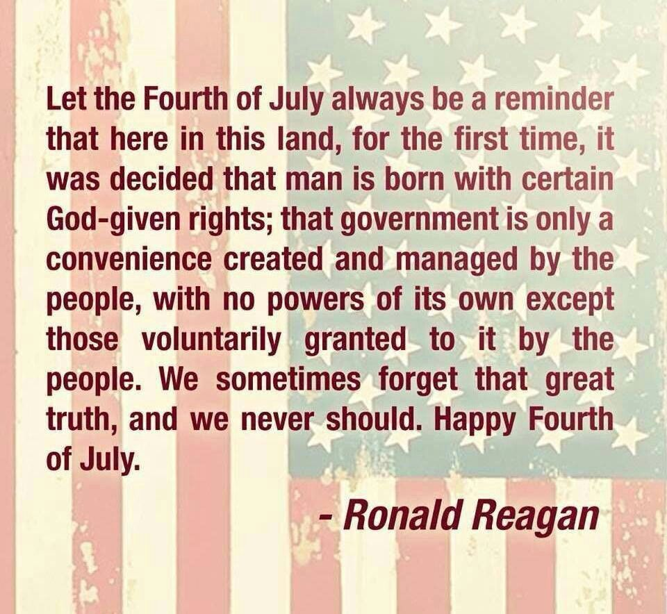 President Reagan On The 4th Of July America The Beautiful