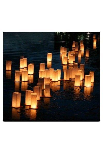 lanterne flottante led multicolore deco exterieur piscine mariage