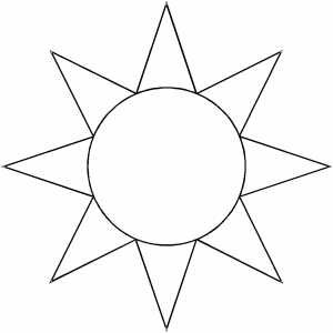 graphic regarding Printable Sun Template called Suitable Images of Sunshine Templates In direction of Slice Out - Solar Templates