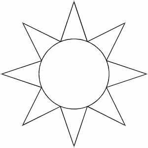 Sun Sketch Mlarbilder Pinterest Onsie template Sketches
