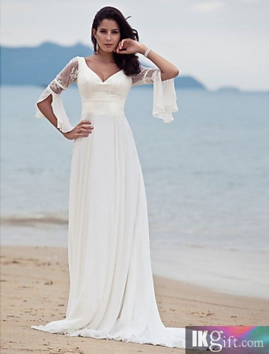 Love The Sleeves On This Dress Totally Stevie Nicks Style Wedding Chiffon