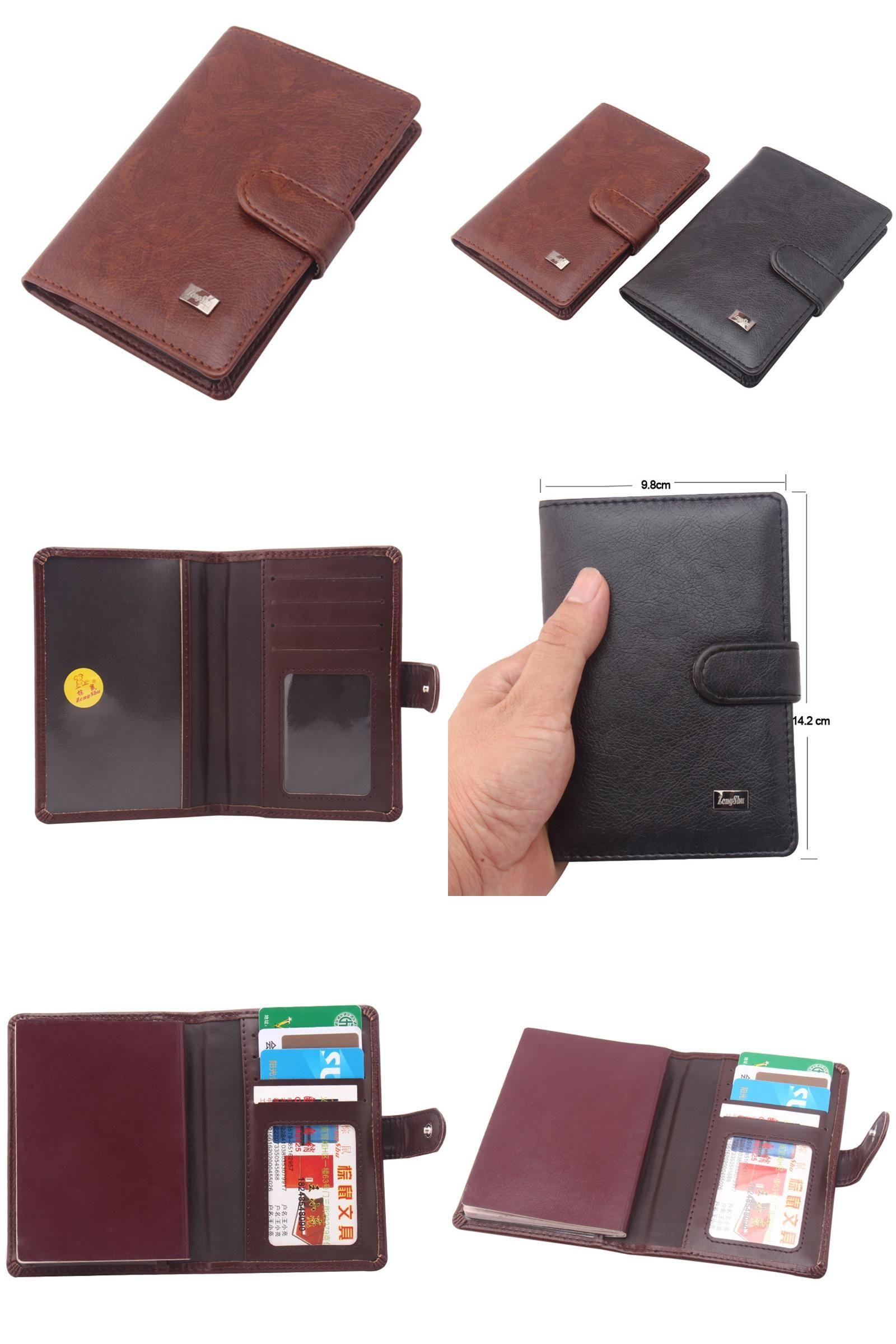 de958698af34 [Visit to Buy] PU Leather Passport Cover Men Travel Wallet Credit Card  Holder Cover Russian Driver License Wallet Document Case --BIH009 PM15  #Advertisement