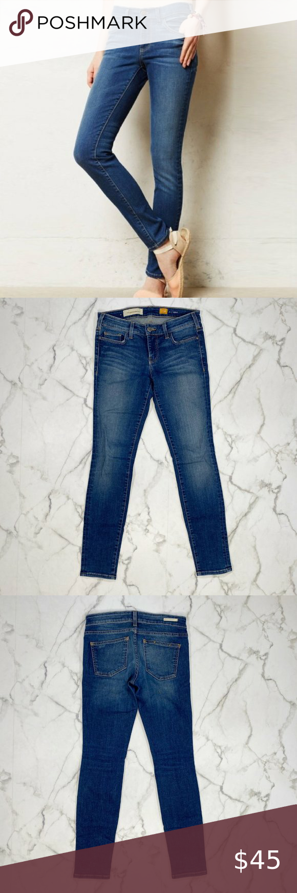 Anthropologie Pilcro Serif Skinny Jeans 28