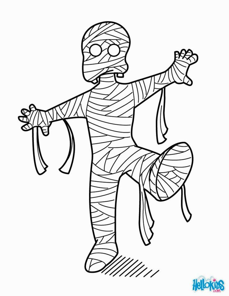 Mummy Coloring Pages Monster Coloring Pages Halloween Coloring Cartoon Coloring Pages