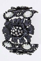 Metal Flowers Stretch Bracelet