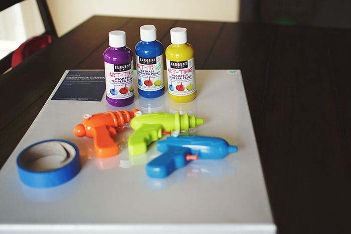 Image result for paint with squirt guns