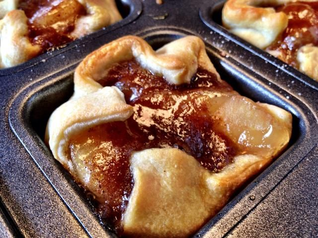 How To Make Mini Pampered Chef Brownie Pan Apple Pies Recipe