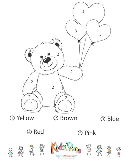 Color The Teddy Bear