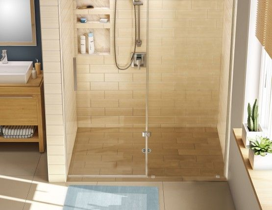 Redi Free Barrier Free Shower Pan With Center Drain 30 D X 60 W