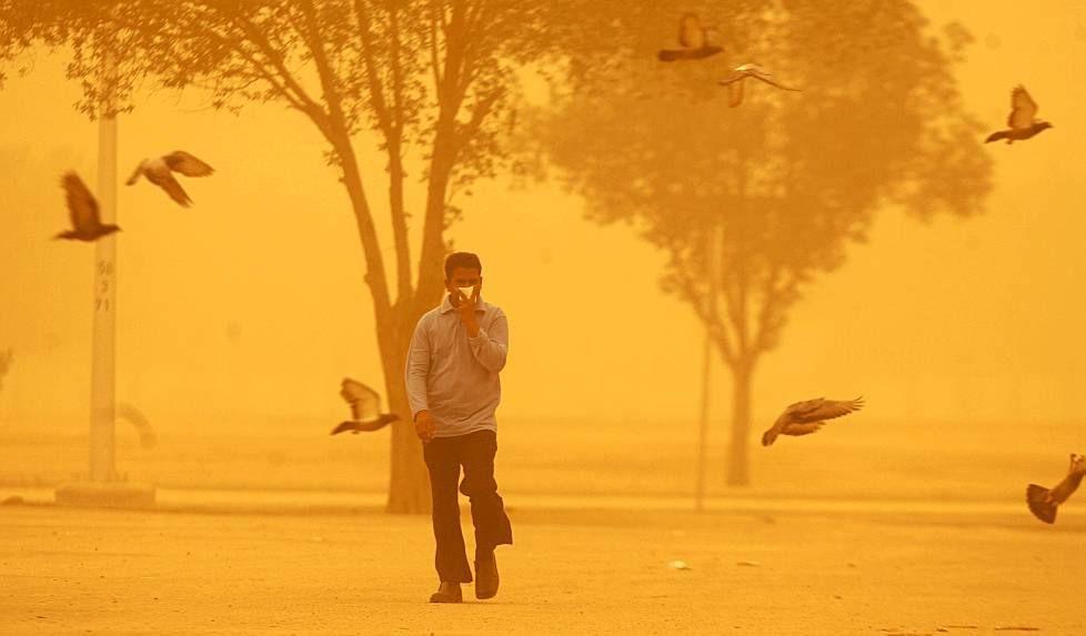 a sandstorm in Kuwait