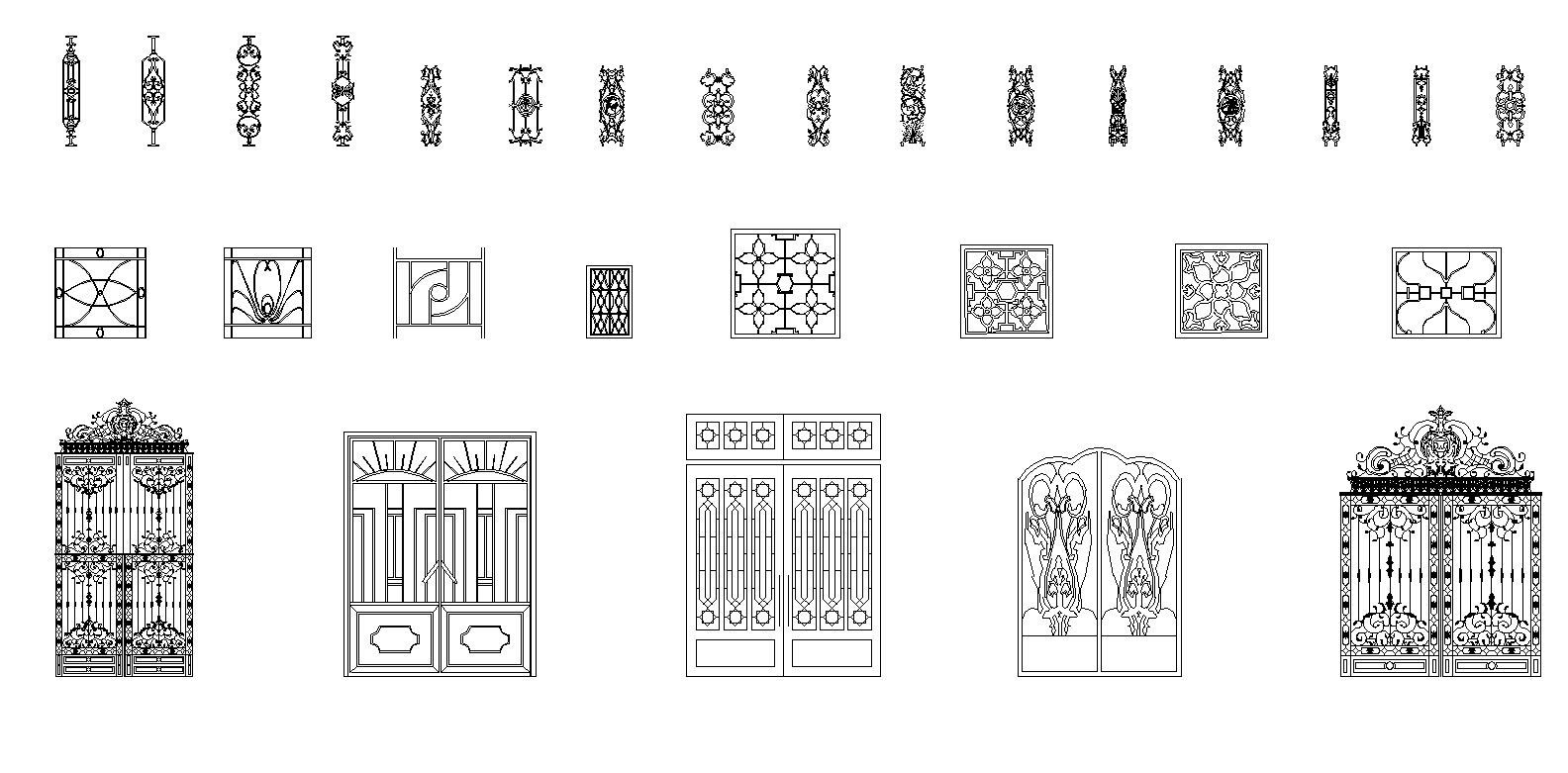 Gates And Fences Cad Design Free Cad Blocks Drawings