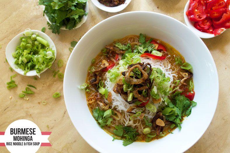 Mohinga Burmese Fish Soup Recipe Fish soup, Seafood