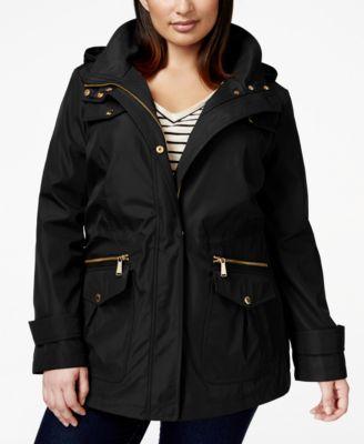 aae15b421d2f2 MICHAEL KORS Michael Michael Kors Plus Size Hooded Anorak Jacket.   michaelkors  cloth   coats
