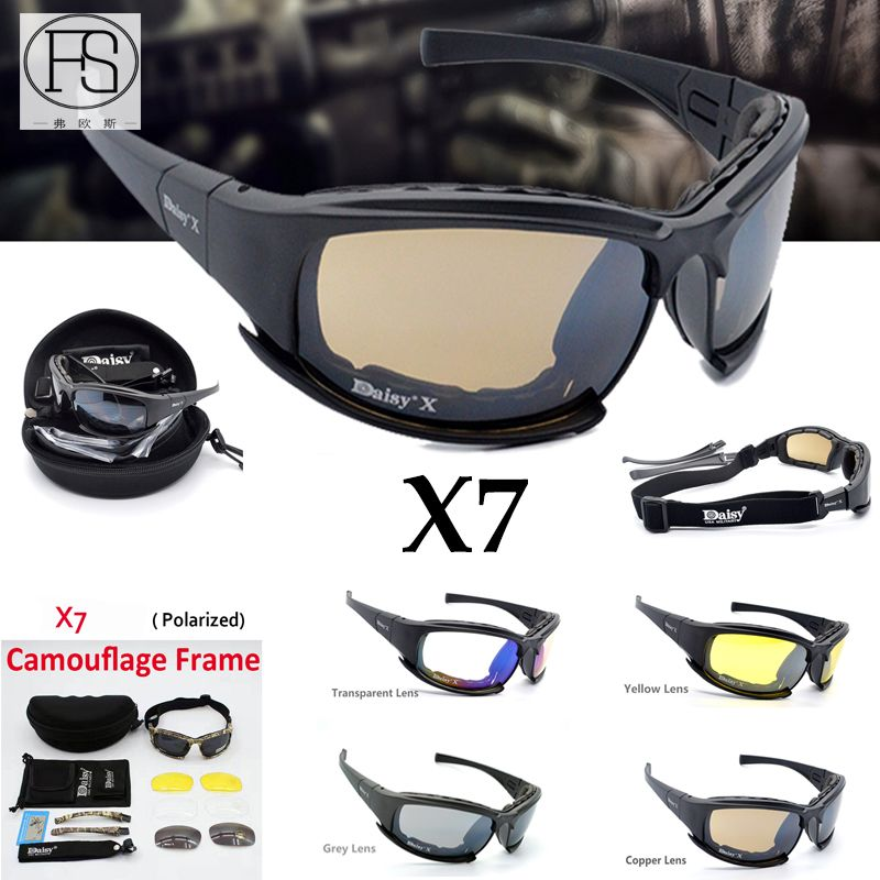 6433ece6974 sale tactical x7 goggles sport polarized sunglasses c6 shooting safety glasses  outdoor hunting  uv  protection
