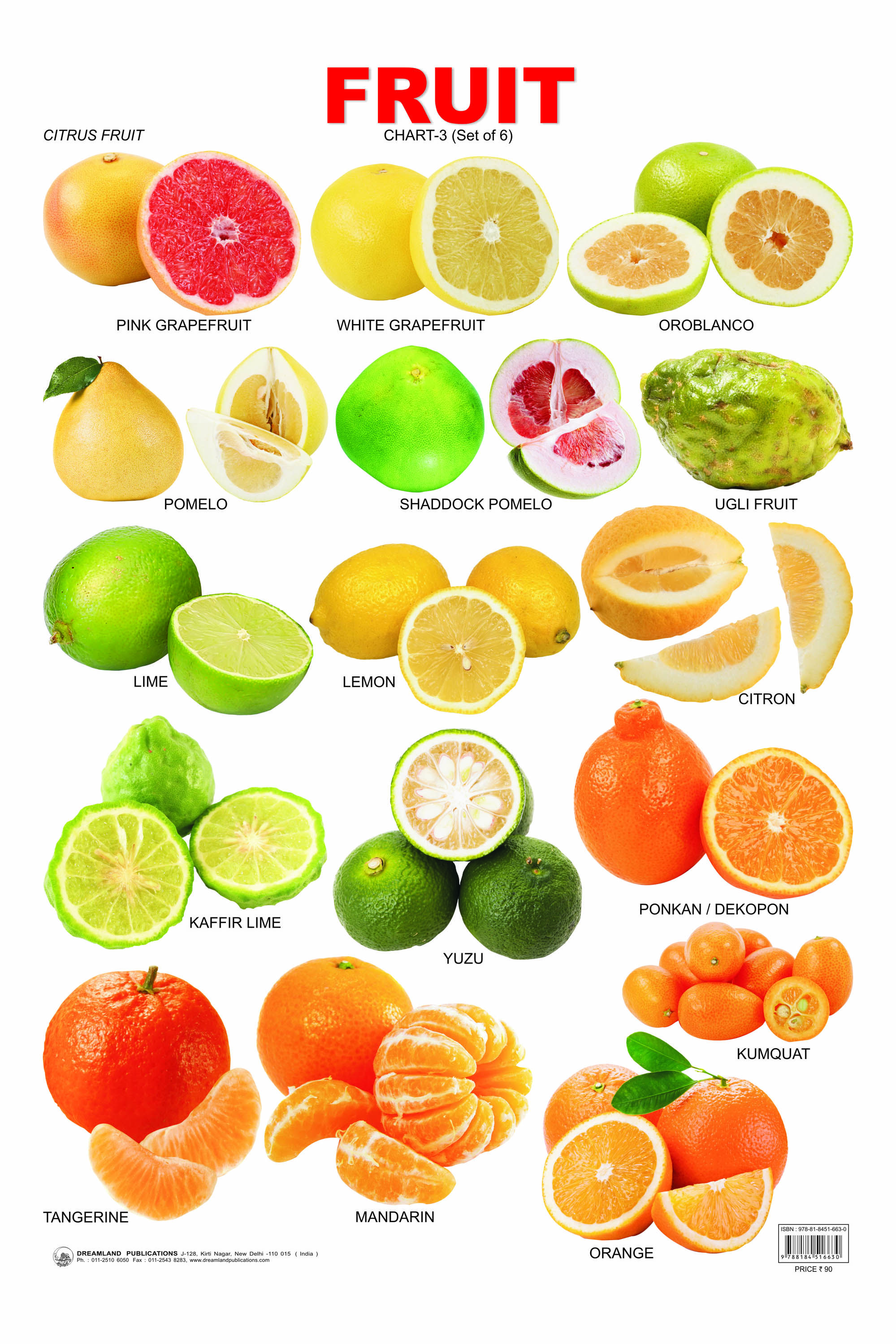 fruit tree list of citrus fruits